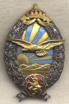 WWII German Made Bulgarian Pilot Badge