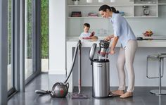 As you glide from room to room with the canister vacuum trailing behind, it amazingly self-rights itself with every bump.