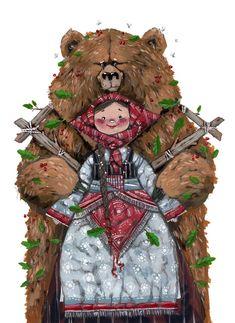 Иллюстрация С Медведями, Медведи, Искусство, Животные