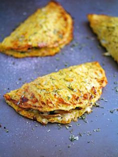 Cheese Mushroom and Spinach Cauliflower Crust Calzone