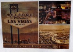5 Welcome To Las Vegas The Strip Sign 3D Lenticular Postcard Lot 1964 and 2011
