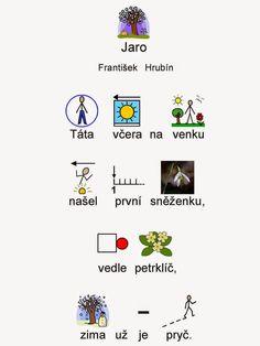 Tak TROCHU ... jiný svět: Básnička - Jaro, František Hrubín Jar, Learning, Autism, Studying, Teaching, Jars, Glass, Onderwijs