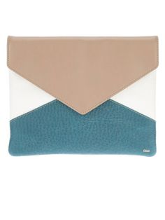 Into the Blue - Chloe Colorblock Envelope Clutch