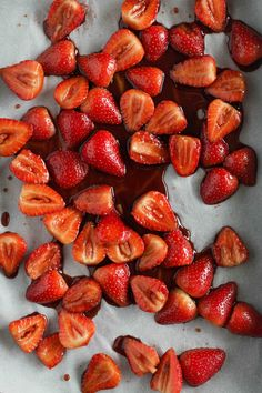 Roasted Balsamic Strawberries! So incredibly delicious, can be served warm or cold and a great topper for so many things.