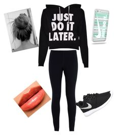 """My Workout Outfit "" by happy-girls-are-the-prettest ❤ liked on Polyvore featuring NIKE and Burberry"