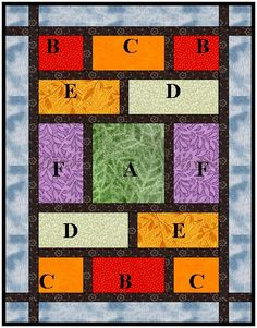 A very quick quilt for fabulous fat quarters.