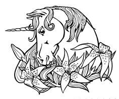 unicorn Fantasy Myth Mythical Mystical Legend Coloring pages colouring adult detailed advanced printable Kleuren voor volwassenen coloriage pour adulte anti-stress kleurplaat voor volwassenen