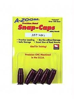 Azoom Snap Caps 357sig 5-pk