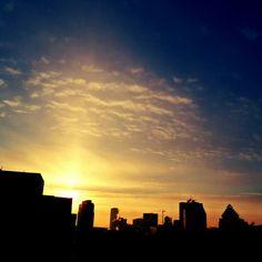 A Montreal sunrise!  Photo by iamaustinhk