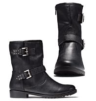 Cushion Walk® Buckle and Studs Moto Boot / Order now  and get free shipping on any $20 order (expires midnight 9/3/14).  www.youravon.com/lwatson0583