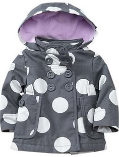Love the polka dots on the Hooded Canvas Jacket, via old Navy