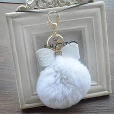 Beautiful Bag Pendant Cherry Rex Faux Fur Colorful Red Stuffed Fluffly Keychain Women Wallet Handbag Schoolbag Cute Accessories Lovely Crazy Price Luggage & Bags
