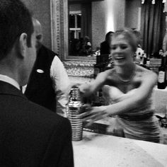 I think one of my favorite moments from last night. Jen making @flesniak his first cocktail as his wife. #mzlwedding #wedding #naples - @weddingtidbits- #webstagram