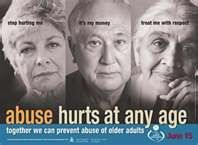 Stop Elderly Abuse.. Stop Abuse Period! This includes financially misusing their $ as well for your own profit or gain !!!