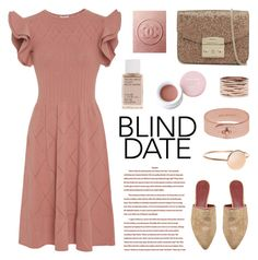 """Blind Date"" by deepwinter ❤ liked on Polyvore featuring Tomas Maier, Tory Burch, Korres, Furla, Repossi, Mulberry and blinddate"