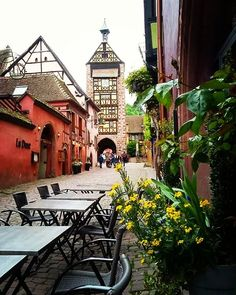 "Riquewihr was our favorite stop on the Alsace Wine Road and has been voted ""one of the prettiest villages in France"". It has a wonderful self guided tour of the medieval town center and you can pick up the guided map at any of the local tourist offices on the Route des Vin Alsace. #riquewihr #alsace #alsacewineroad #routedesvins #france #visitfrance #travelgram #travelblogger #travelphotography #europe #roadtrip #travel #theunfetteredlife"