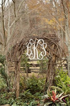 We could your arch (or remake it if necessary haha) as a photo booth...  monogram at ceremony