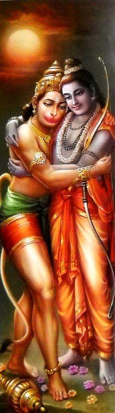 Hanuman and Lord Rama. Mantra is Om Ram Ramaya Namah: Ram Hanuman, Hanuman Pics, Hanuman Images, Ram Pic, Mantra, Lord Sri Rama, Shri Ram Photo, Hanuman Ji Wallpapers, Lord Rama Images