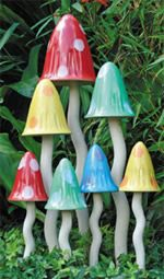 Tinkling Toadstools for the whimsical garden.