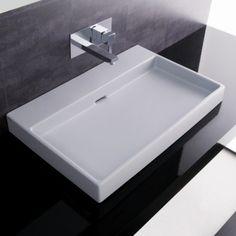 "WS Bath Collections Urban 70 Wall Mounted / Vessel Bathroom Sink 27.6"""