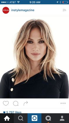 Instyle cover jlo, love this hair color and cut