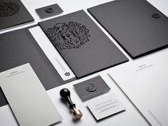 Grey sleek brand identity