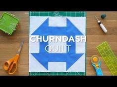 Make an Easy Churn Dash Quilt Block - Quilt Snips - YouTube