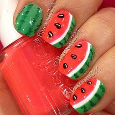 watermelon by basoom234 #nail #nails #nailart
