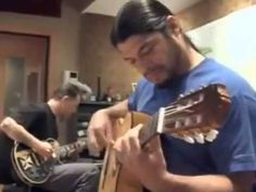 Robert Trujillo plays Flamenco on an acustic guitar