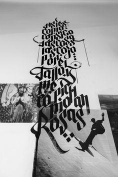 EXPOSÉ • Paste up & Calligraffiti by JuanJo Rivas del Rio, via Behance