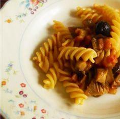 fusilli con funghi e pancetta  #italianfood #recipes  #pasta