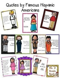 """FREE Quotes by Famous Hispanic Americans!.... Follow for Free """"too-neat-not-to-keep"""" teaching tools & other fun stuff :)"""