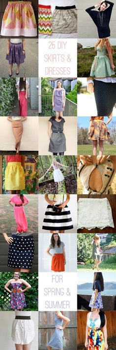 25 DIY DRESSES AND SKIRTS FOR SPRING AND SUMMER #14 i love the back! #24 would be ready and great for causal wear