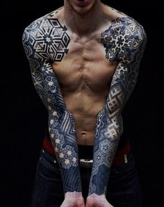 Male Tattoo Ideas Dot Work