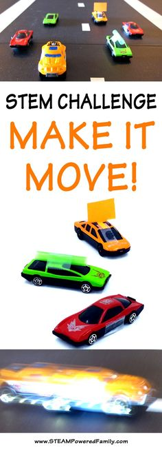 MAKE IT MOVE! - STEM Challenge that kids of all ages will love as they race to the finish!