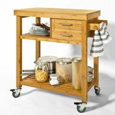 sobuy carrello di servizio carrelli per cucina mensola angolarein bamb