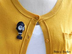 Vintage Gas Mask Brooch Pin by AbbiesAnchor on Etsy
