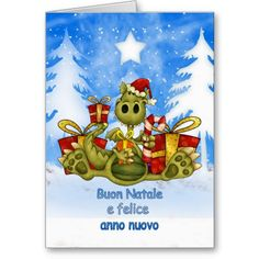 24 best italian christmas cards greetings images on pinterest italian christmas card cute dragon buon natale m4hsunfo