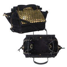 Bedecked Bag:  JEROME DREYFUSS GOLD DISCO TRAPEZE BAG
