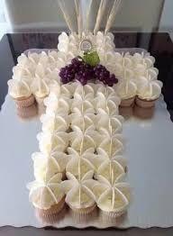 Resultado de imagen para tortas y cupcakes para primera comunion