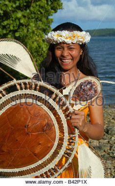 Local Girl at Pohnpei Caroline Islands Senyavin Islands Pacific Pohnpei Micronesia - Stock Image