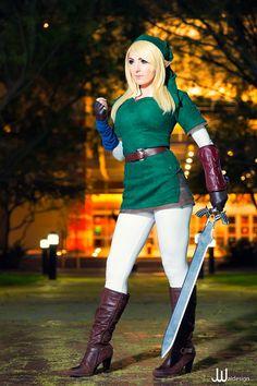 Link, The Legend of Zelda by Jessica Nigri, photo by JWaidesign.