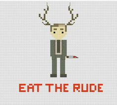 Eat The Rude - Dr Hannibal Lecter Cross-Stitch pattern on Etsy, $4.31