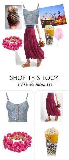 """Summer Date Outfit 1"" by summerbutterflies ❤ liked on Polyvore featuring Full Tilt and Gap"