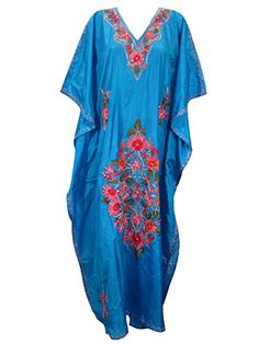 Boho Gypsy Kaftan Dress Lounger Wear Floral Floral Embroidered Moroccan Caftan Xl Mogul Interior http://www.amazon.com/dp/B013DQZ5IO/ref=cm_sw_r_pi_dp_nae4vb0WNBJ3E
