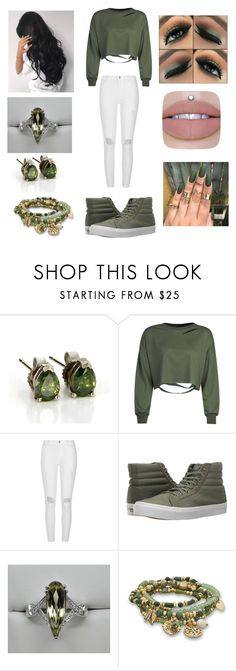 """Green"" by peterpanandwendydarling ❤ liked on Polyvore featuring WithChic, River Island, Vans and BillyTheTree"