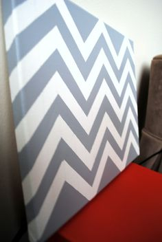 Grown Girls Play Date / wine& Crafts @ Brie DIY: how to paint a chevron canvas