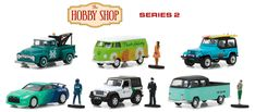Hobby Shop Series 2 Set Of 6 1/64 Scale Diecast Model By Greenlight 97020