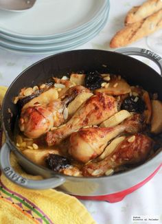 Muslos De Pollo Al Horno Con Manzana Y Frutos Secos Directo Al Paladar