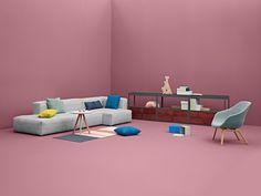 Soft Mags / L 302 cm - mit Armlehne links | Hay | Sofa
